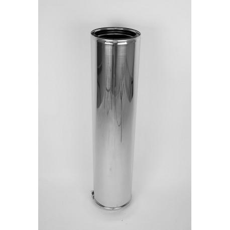 Skorstensrör, Ø250-300, L: 1000 mm.