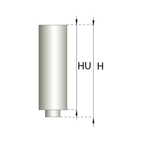Skorstensrör, Ø150-200, L: 250 mm.