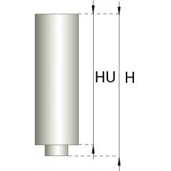 Skorstensrör, Ø180-225, L: 250 mm.