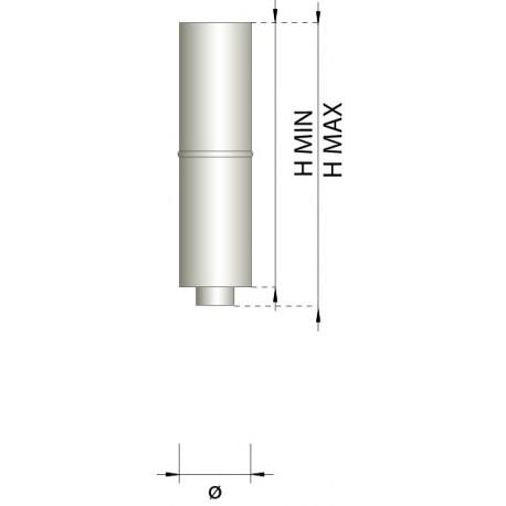 Teleskoprör Ø180-230mm, L: 400-580mm