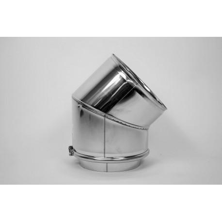 Skorstensböj, 45°, Ø250-300mm
