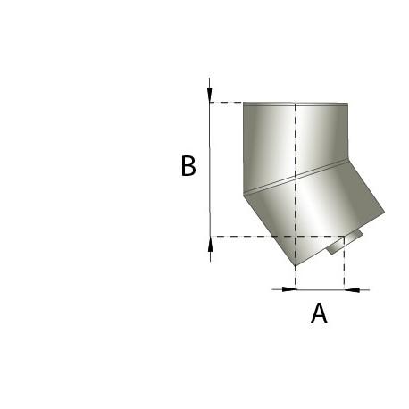 Skorstensböj, 30°, Ø150-200mm