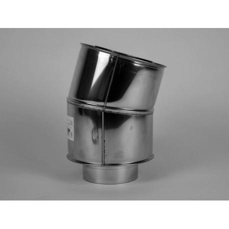 Skorstensböj, 15°, Ø200-250mm