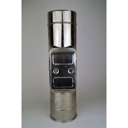 Skorstensrör med inspektionslucka, Ø200-250mm. L: 500mm