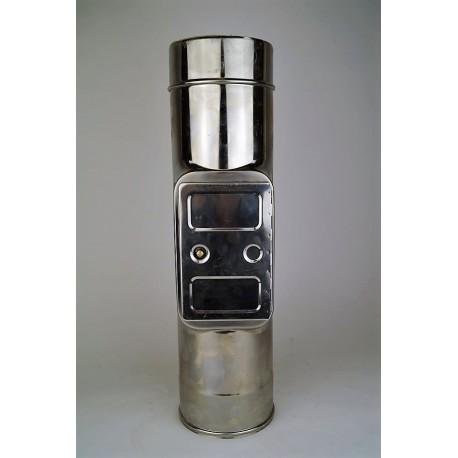 Skorstensrör med inspektionslucka, Ø250-300mm. L: 500mm.