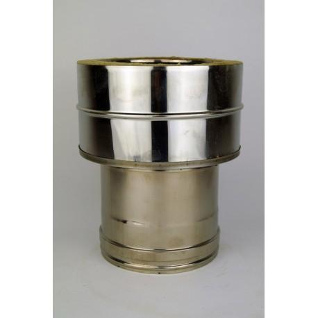 Övergång dubbelväggigt - enkelväggigt Ø250-300mm (hona)