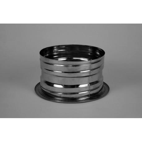 Övergång dubbelväggigt - flexibelt. Ø180-230mm