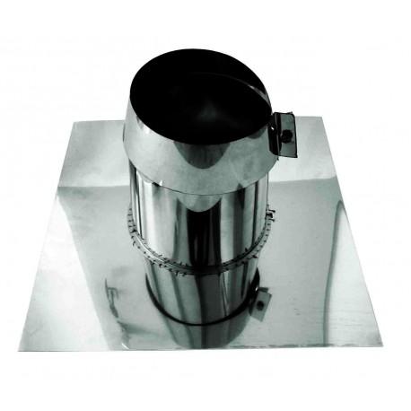 Takgenomföring, Ø150mm, taklutning 0°-5°.