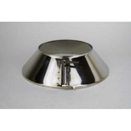 Justerbar täckring för rökrör Ø180mm