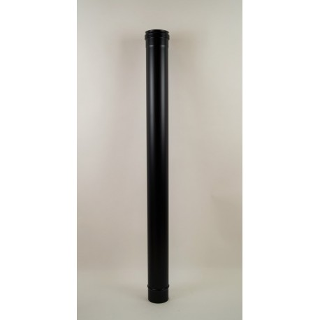 Rökrör, svart, Ø80mm, L: 1000mm.