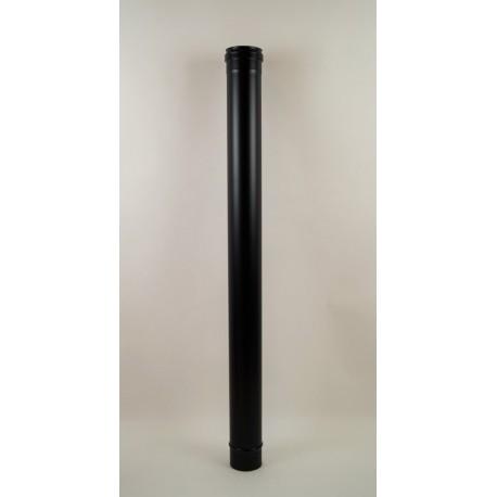 Rökrör, svart Ø80mm, L: 1000mm