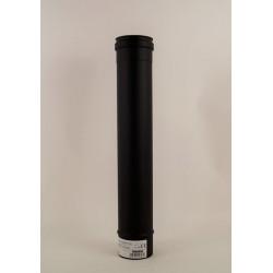 Rökrör, svart, Ø80mm, L: 500mm.