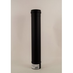 Rökrör, svart Ø80mm, L:500mm