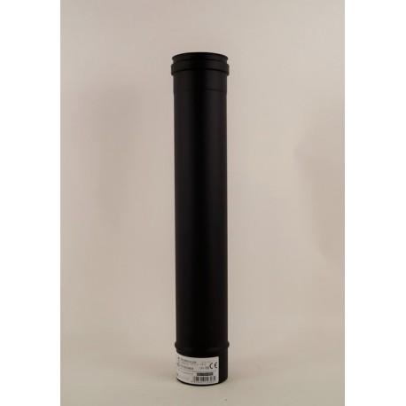 Rökrör, svart Ø80mm, L: 500mm