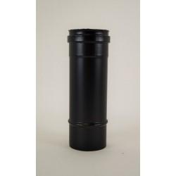 Rökrör, svart, Ø100mm, L: 250mm.