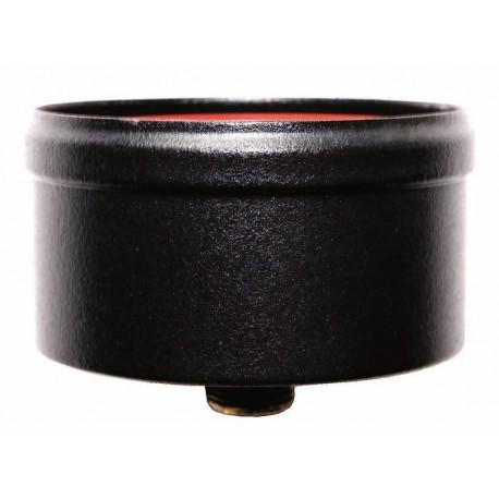 Kondenseringslock med avlopp (svart), diameter Ø80mm.