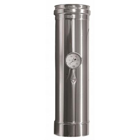 Rökrör med temperatursensor Ø100mm, L: 500mm.
