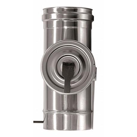 Rökrör med inspektionslucka, Ø100 L: 280mm