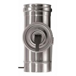 Rökrör med inspektionslucka, Ø120mm L: 330mm.