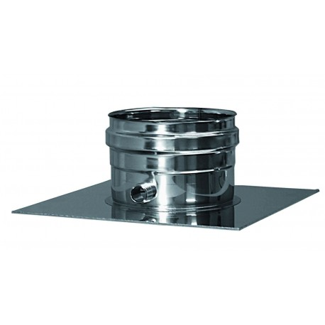 Genomföringsplåt med kondensavlopp, Ø100mm