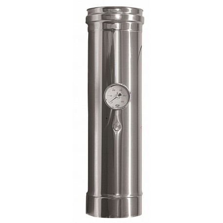 Rökrör med temperatursensor Ø130mm, L: 500mm