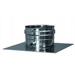 Genomföringsplåt med kondensavlopp, diameter Ø130