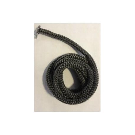 Kachelkoord zwart + lijm. 2.5m, 6mm