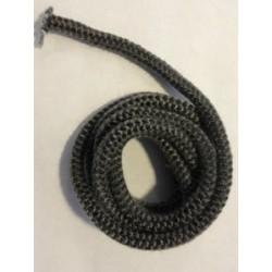 Kachelkoord zwart, rond. 8mm