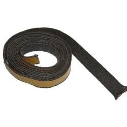 Kachelkoord zwart. 2.5m, 20mm