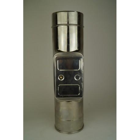 Skorstensrör med inspektionslucka, Ø130-180mm. L: 333mm