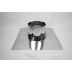 Takgenomföring platt, Ø130-180mm, taklutning 0°-5°.
