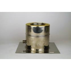 Genomföringsplåt med kondensavlopp, Ø100-150mm.