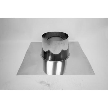 Takgenomföring, platt Ø100-150mm, taklutning 0°-5°.