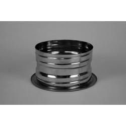 Anslutningsstycke dubbelisolerad - flexibel, Ø100-150mm.