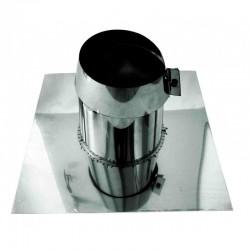 Takgenomföring, platt Ø300-350mm, Taklutning 0°-5° med regnkrage