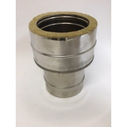 Anslutningsstycke, dubbelisolerat - enkelisolerat Ø150-200mm (hane)