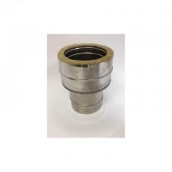 Övergång/Anslutningsstycke (hane), Ø180mm oisolerat - Ø230mm isolerat.