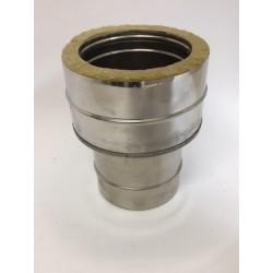 Övergång/Anslutningsstycke (hane), Ø250mm enkel - Ø300mm dubbel.