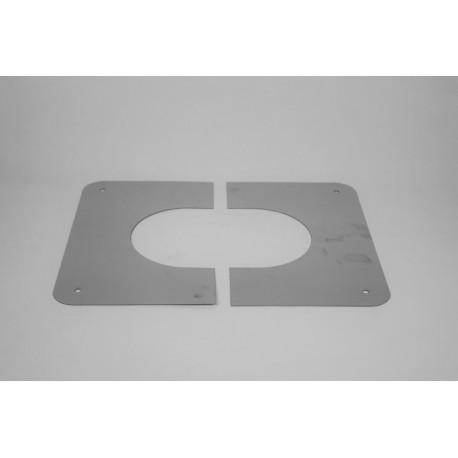 Genomföringsplåt för sluttande tak Ø350mm