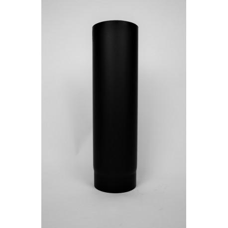 Kaminrör i tjockväggigt svart stål 2mm , Ø130, L: 500mm