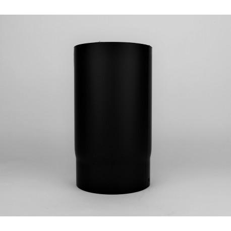 Kaminrör i tjockväggigt svart stål 2mm, Ø150, L: 250mm