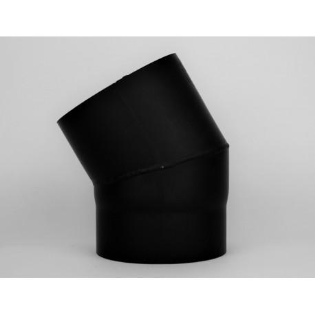 Kaminrörsböj i tjockväggigt svart stål 30°, Ø140mm