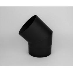 Kaminrörsböj i tjockväggigt svart stål 45°, Ø140mm