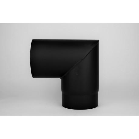 Kaminrörsböj 90° i tjockväggigt svart stål, Ø140mm