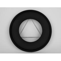 Täckring i svart stål Ø180mm
