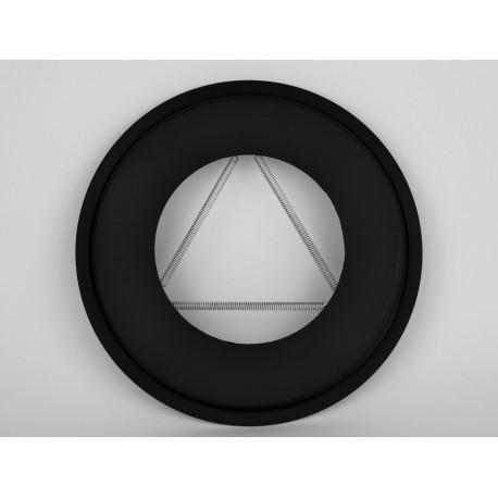 Täckring i svart stål Ø200mm