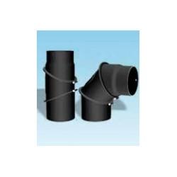 Justerbar kaminrörsböj med inspektionslucka 0-90°, Ø150mm.