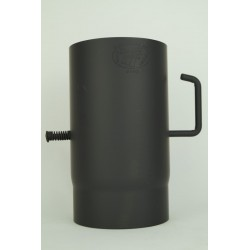 Kaminrör i tjockväggigt svart stål 2mm Ø150mm L: 250mm med avstängningsventil