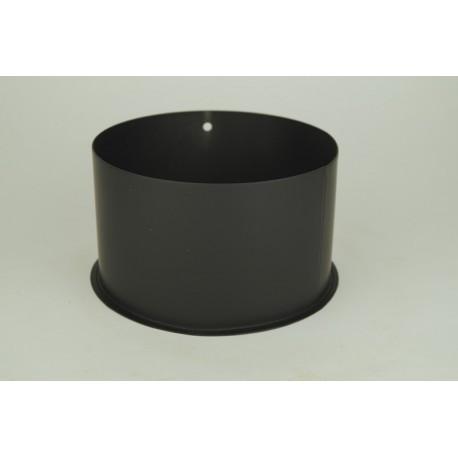 Inmurningsstos i tjockväggigt svart stål Ø180mm