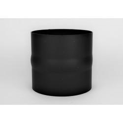 Skarvstos i tjockväggigt svart stål Ø140mm (hane)